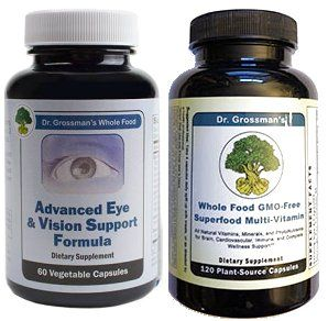 Dr. Grossman's Advanced Eye and Dr. G's Whole Food Superfood Multi120 Vcap Combo - 2 months supply