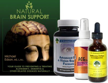 Natural Brain Support Book and Nutrient Package