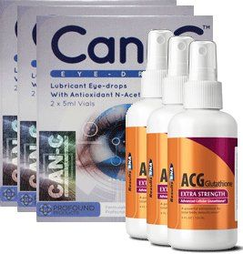 Advanced Lens Can-C Eyedrops plus Glutathione Package 2G