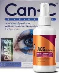 Advanced Lens Can-C Eyedrops plus Glutathione Package 1G