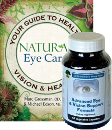 Natural Eye Care EBook plus Advanced Eye & Vision Support Formula