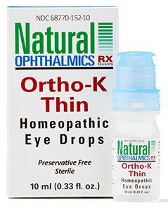 Ortho K Thin (Daytime) Homeopathic  Eye Drops 10ml per bottle