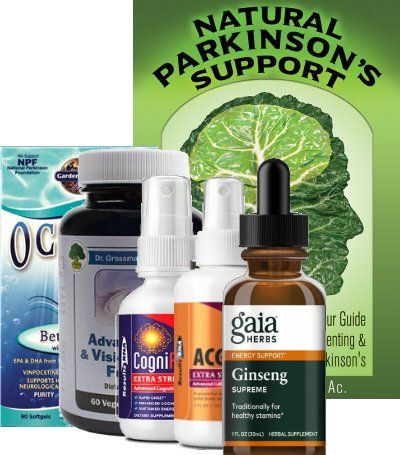 Natural Parkinson's Support Book and Supplement Package1
